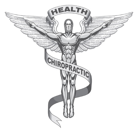 man symbol: Chiropractic Symbol illustration Illustration
