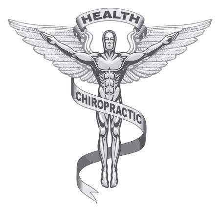 상징: Chiropractic Symbol illustration 일러스트