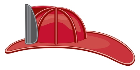 Vintage Firefighter Helmet or Fireman Hat Vector
