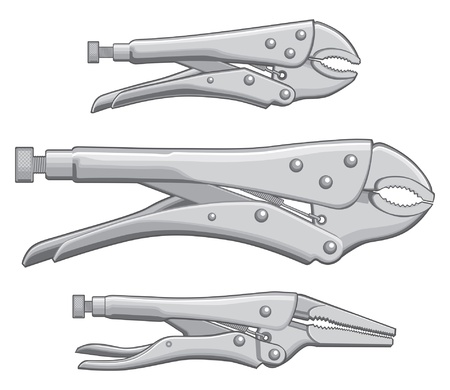 adjustable wrench: Vise Grips Locking Pliers