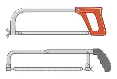 弓のこイラスト。1 つは、古いデザインと他のより近代的なです。  イラスト・ベクター素材
