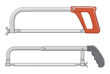 Hacksaw Illustrations. One is an older design and the other is more modern.