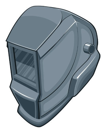 Welding Helmet is an illustration of a welders helmet.