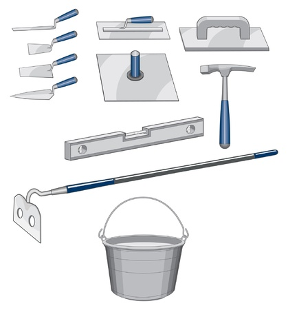 trowels: Bricklayer Masonry Tools is an illustration of tools used for bricklaying or masonry work.