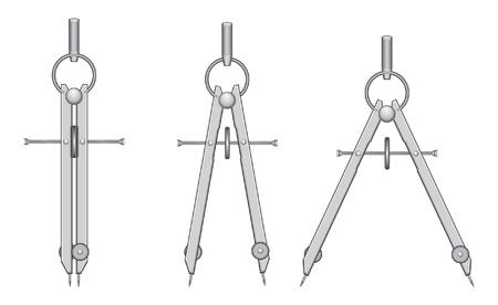 Tekenen Compass is een illustratie van een kompas gebruikt voor het tekenen en het opstellen van.