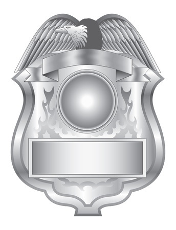 Silver Badge is an illustration of a silver star burst badge.