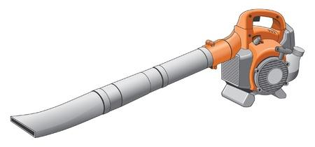 blower: Leaf Blower Illustration. Illustration