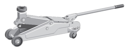 hydraulic: Car jack is an illustration of a car jack used to lift vehicles. Illustration