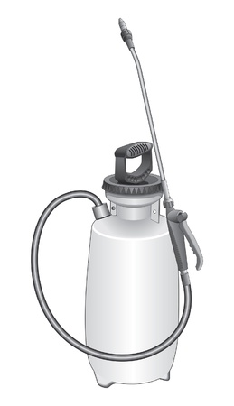 Garden Sprayer is an illustration of a lawn and garden sprayer for dispensing pesticide or herbicide. Ilustracja