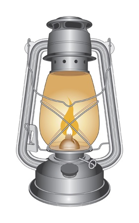 Vintage Oil Lamp or Lantern is an illustration of an old oil lamp.