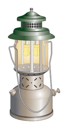 kerosene lamp: Camping Lantern is an illustration of a camping lantern used to light campsites. Illustration