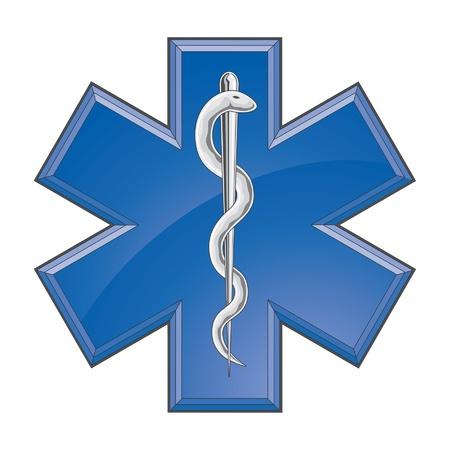 star of life: Rescue Paramedic Medical Logo