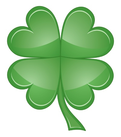 lucky clover: Shamrock or Four Leaf Clover is an illustration of a four leaf clover or shamrock that can be used for St  Patrick�s Day  Illustration