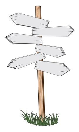 Sign Post ist eine Darstellung eines Sign Post zeigt verschiedene Richtungen für die Standorte und Meilen zu gehen
