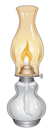 Oil Lamp is an illustration of a burning oil lamp or lantern. Фото со стока - 14825707
