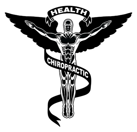 man symbol: Chiropractic Symbol is an illustration of a symbol used to represent chiropractors.