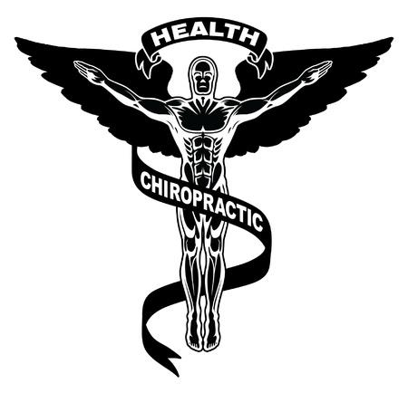 Chiropractie Symbol is een illustratie van een symbool wordt gebruikt om chiropractors vertegenwoordigen.