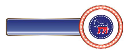 democrat: Political Label Democrat Stars is an illustration of label with political theme of Democrat that can be used with your own custom text and colors