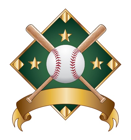 baseball diamond: Baseball Design Template Diamond is an illustration of a baseball design template with diamond for use with your own text. Great for t-shirt designs.