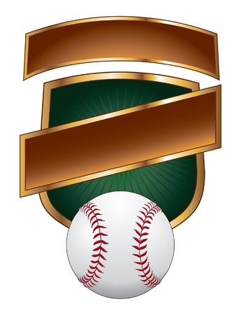 baseball diamond: Baseball Design Templates is an illustration of a baseball design template with shield for use with your own text. Great for t-shirt designs. Illustration
