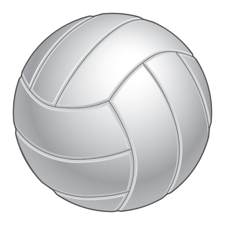Volleyball illustration in black and white. Great for print or screen print. Illustration