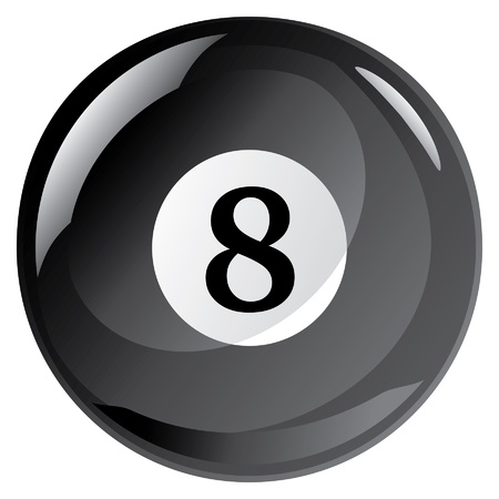 Eight Ball is an illustration of an eight ball used in the game of pool or billiards.