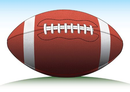 pigskin: Football is an illustration of a Football used in American type football. Illustration