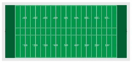 grass field: Football Field is an illustration of a football field used in American type football. Illustration