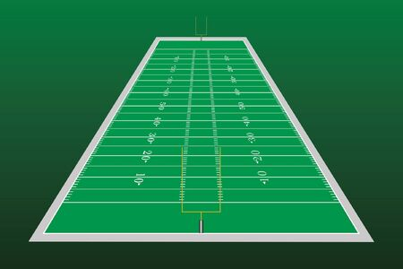 american football field: Football Field Perspective is an illustration of a football field with goalposts used in American type football as seen in perspective. Illustration