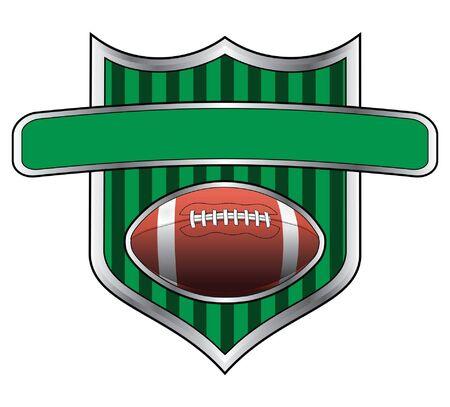bannière football: Design Le football Shield Banner est une illustration d'une conception liée au football.