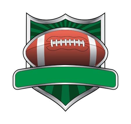 banni�re football: Design Le football Shield embl�me est une illustration d'une conception li�e au football.