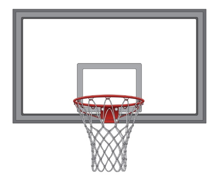 basketball game: Basketball Net With Backboard is an illustration of a complex basketball net including the basketball backboard