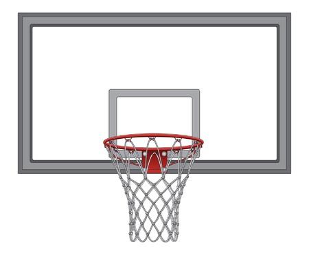 Basketring met Backboard is een illustratie van een complex basketbalnet met inbegrip van het basketbal bord Stock Illustratie