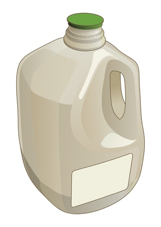 gal�n: Gallon Jug es una ilustraci�n de un gal�n utilizado como un contenedor para leche y otros l�quidos