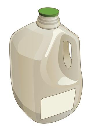 Gallon Jug is een illustratie van een liter kruik gebruikt als een container voor melk en andere vloeistoffen Stock Illustratie