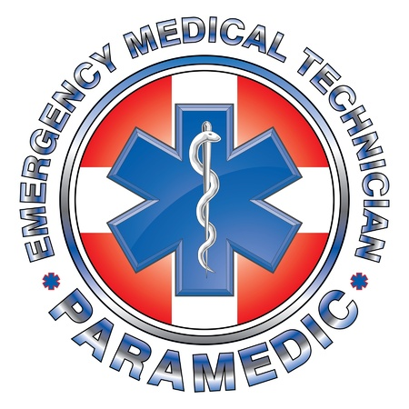 EMT Paramedic Medical Design Cross is an illustration of an EMT or paramedic design with star of life medical symbol and first aid cross  Stock Vector - 21124295