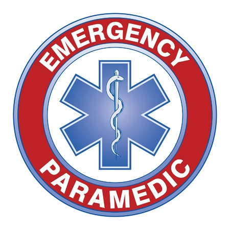 Paramedic Medical Design is an illustration of an emergency paramedic design with star of life medical symbol