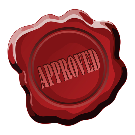 Seal of Approval is an illustration of a wax seal with the word approval