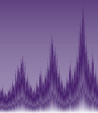 Purple Wave Ilustrace