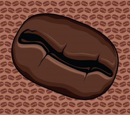 Coffee Bean is een illustratie van een gebrande koffie bonen met een boon achtergrond herhalend patroon koffie
