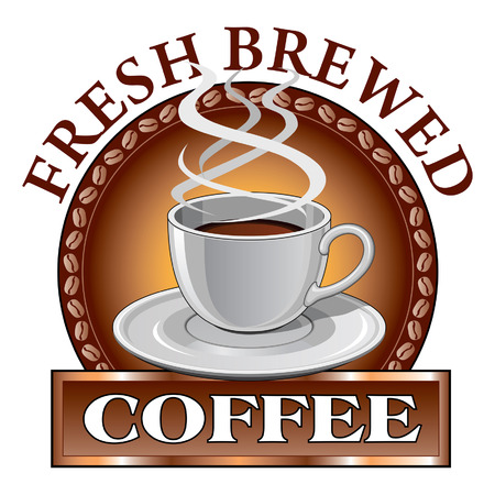 Coffee Design Fresh is een illustratie van een koffieontwerp