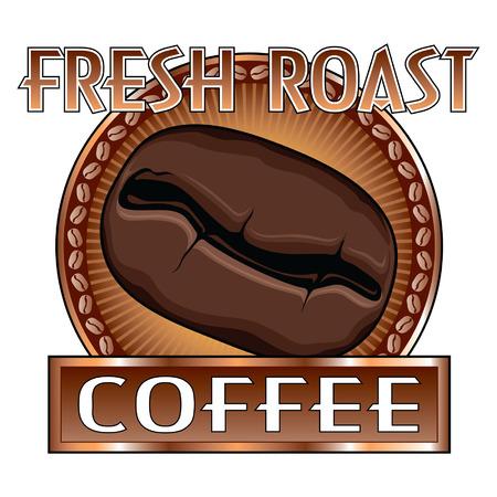 Ontwerp van de Koffie Bean is een illustratie van een kopje koffie ontwerp Stockfoto - 24525197