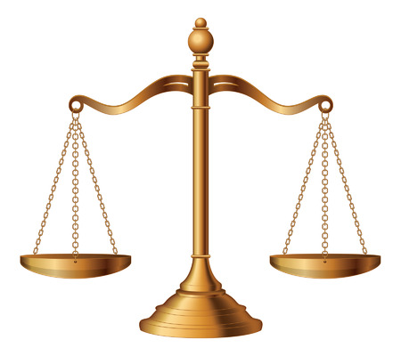 Scales of Justice is an illustration of the scales of justice symbolizing the measure of a case s support and opposition in a court of law Reklamní fotografie - 26056872