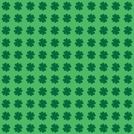 Four Leaf Clover or Shamrock Background - Seamless is an illustration of a four leaf clover or shamrock seamless repeatable background design  Great for web page designs  Ilustracja