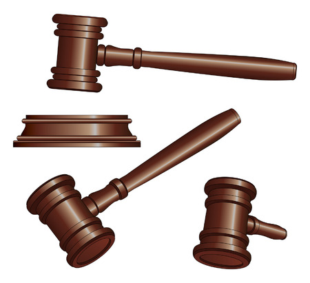 lawyer in court: Gavel is an illustration of three versions of a gavel used by court judges and other symbols of authority  Gavels are used to call for attention or to punctuate rulings and proclamations