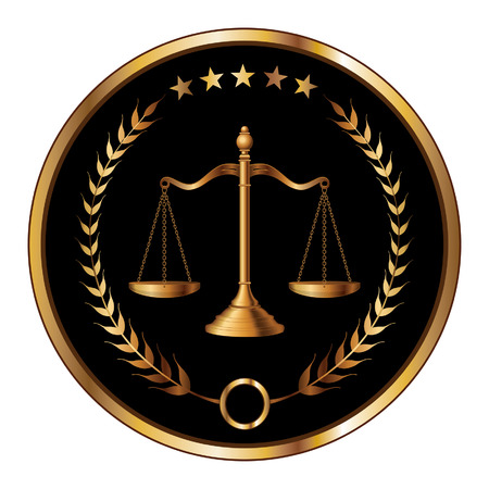 justice scales: Law or Layer Seal is an illustration of a design for law, lawyers, or law firms