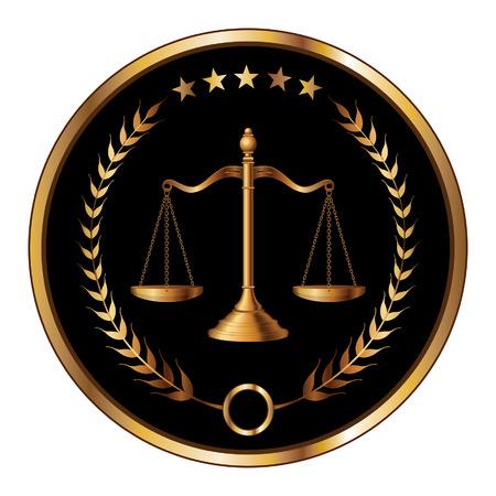derecho penal: Ley o capa de sellado es una ilustraci�n de un dise�o de la ley, los abogados o bufetes de abogados Vectores
