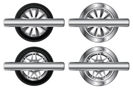 Wheel Tire and Rim Designs    Illustration