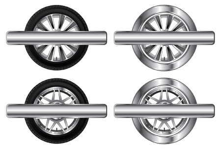 alloy wheel: Wheel Tire and Rim Designs    Illustration