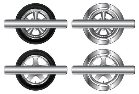 cerchione: Pneumatico della ruota e Alloy Rim Designs Vettoriali